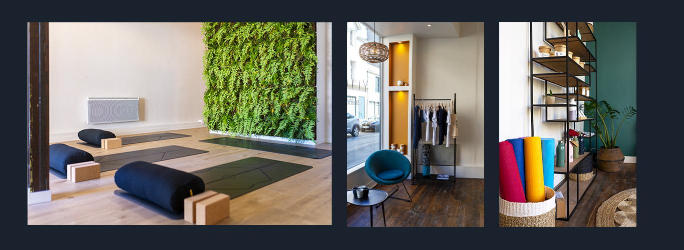 3 photos de l'intérieur du studio Yogissime à Dinard